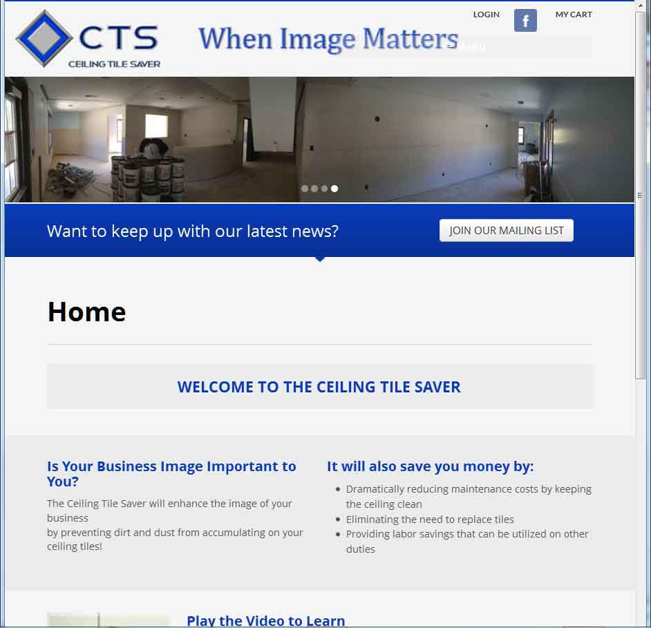 Ceiling Tile Saver Website