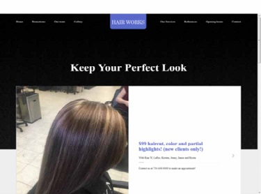 Hair Works Company Website